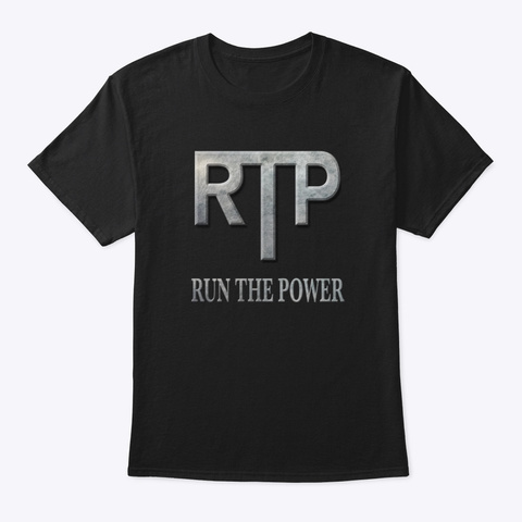 Run Power Behind Me Black T-Shirt Front