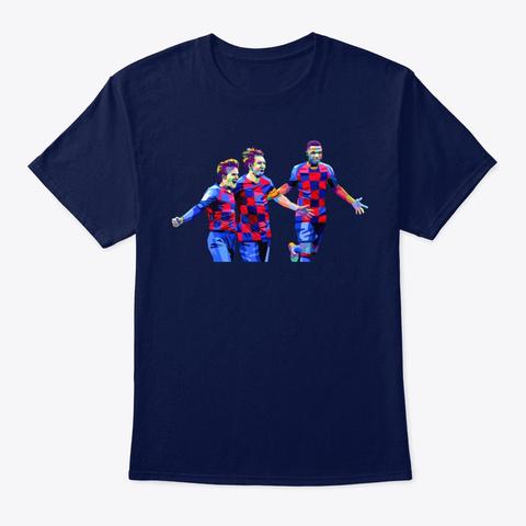 Bu Exlcusive: Leo, Riqui, Ansu Navy T-Shirt Front