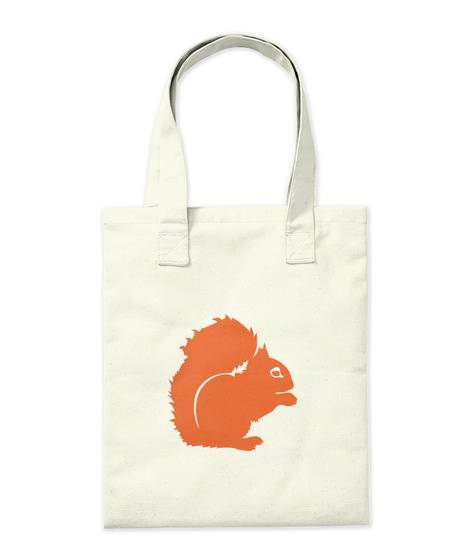Squirrel Bag Natural Tote Bag Back