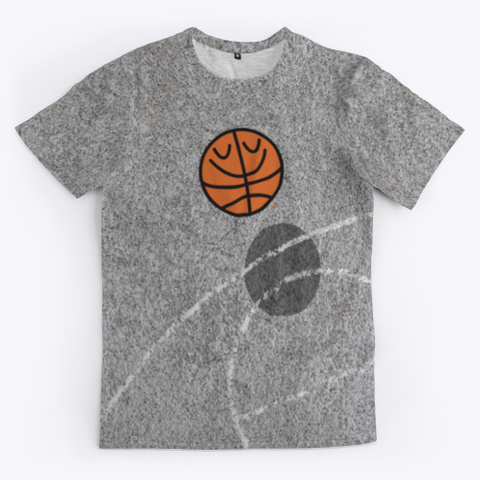Basket Bill™ Concrete Court Standard T-Shirt Front