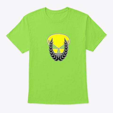Spider   Skull Laurels Atom Radioactive Lime T-Shirt Front