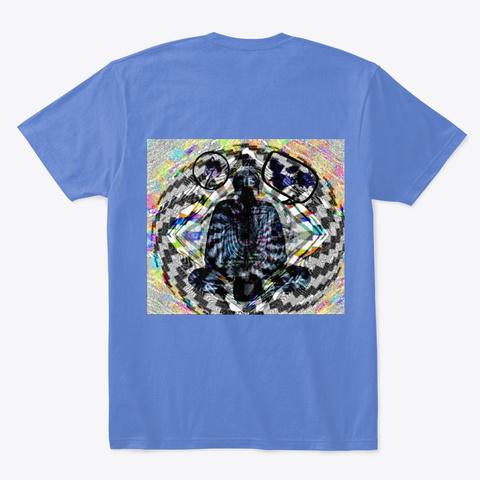 Cannabis Buddha Bliss Design 2 Heathered Royal  T-Shirt Back