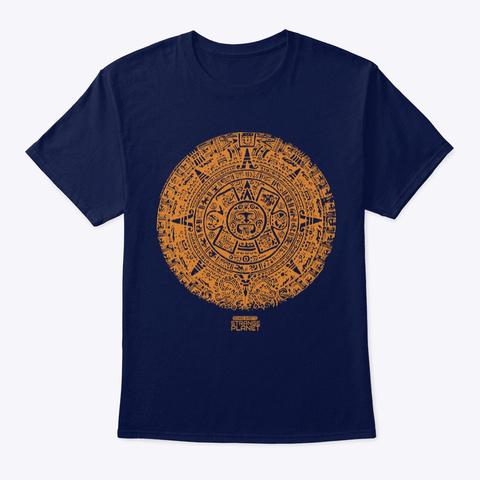 Mayan Calendar Navy T-Shirt Front