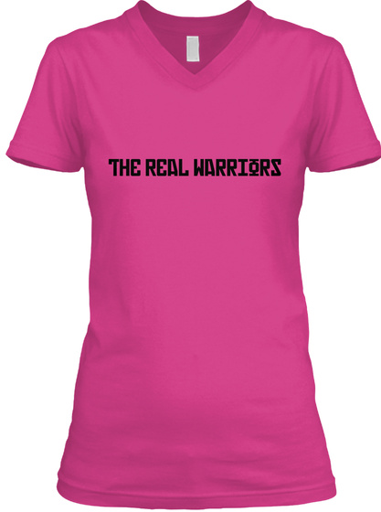 The Real Warrior Berry T-Shirt Front