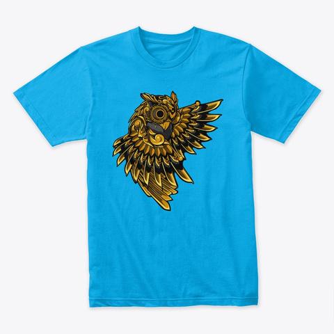 Hawk  Turquoise T-Shirt Front