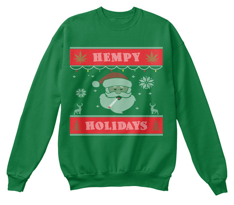 Hempy Holidays Kelly Green  T-Shirt Front