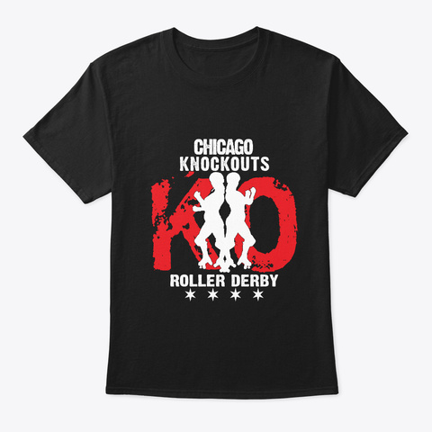 Chicago Knockouts Rumbler Red Black T-Shirt Front