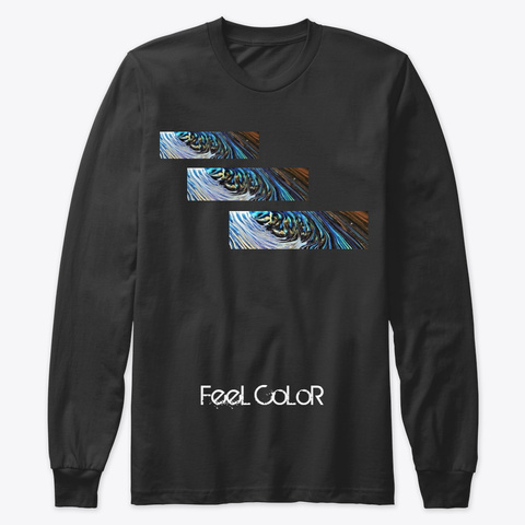Feel Color Black T-Shirt Front