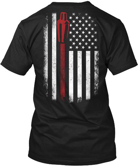 Bartender  Limited Edition Black T-Shirt Back