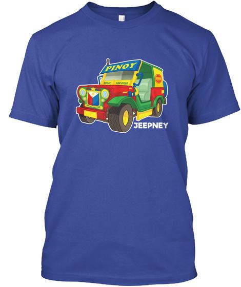 Pinoy Jeepney Deep Royal T-Shirt Front