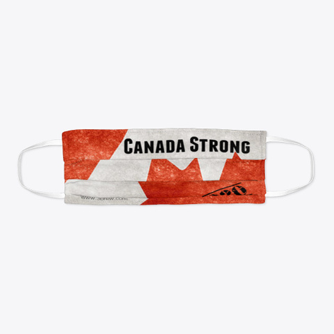 Canada Strong Face Mask Standard T-Shirt Flat