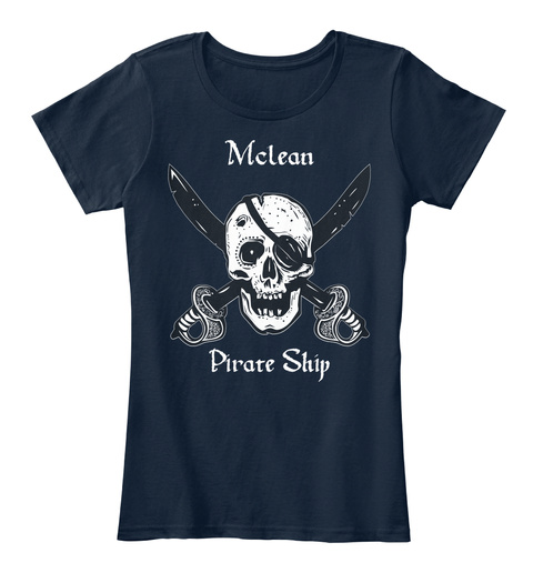 Mclean's Pirate Ship New Navy T-Shirt Front