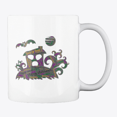 Happy Halloween Mug White Camiseta Back
