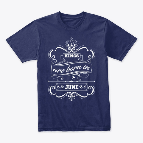Birthday T Shirt Queen Are Born In July Midnight Navy T-Shirt Front