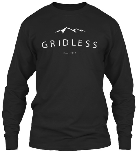 Gridless Life Long Sleeve Tee Black T-Shirt Front