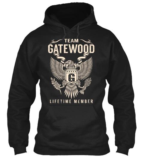 Team Gatewood Lifetime Member Black T-Shirt Front
