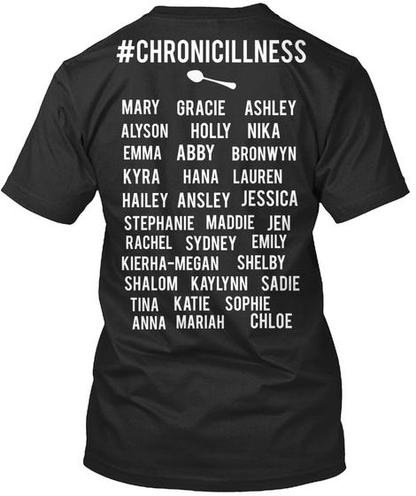 Chronicillness Black T-Shirt Back