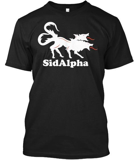 Sidalpha Black T-Shirt Front