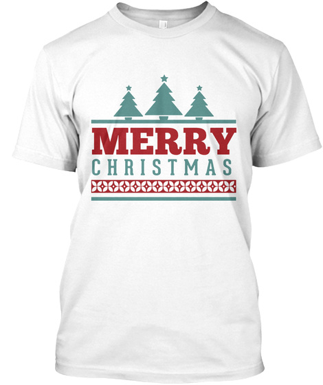 Chrismas And Happy New Years White T-Shirt Front
