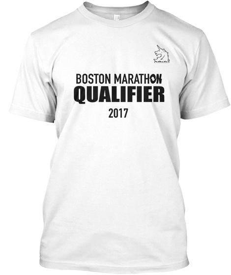 Boston Marathon 2017 White T-Shirt Front