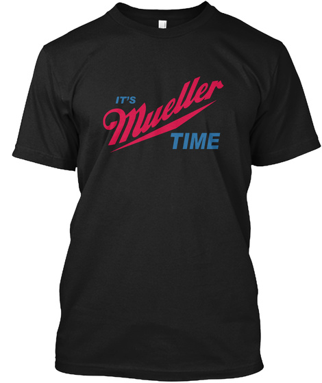 It's Muellet Time Black Camiseta Front