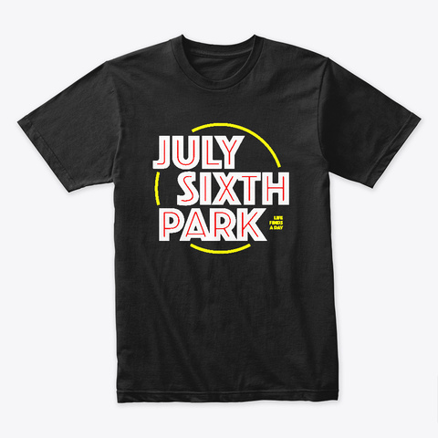 July Sixth Park Tee Black T-Shirt Front