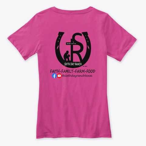 Sixth Day Ranch Gear Berry T-Shirt Back