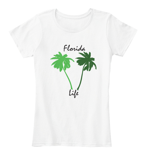 Florida Life White T-Shirt Front