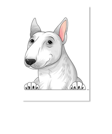 Bull Terrier Decal 04 White T-Shirt Front