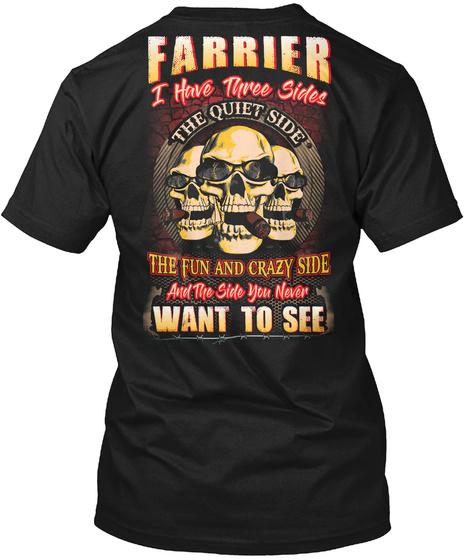 Limited Edition  Farrier Shirt Black T-Shirt Back