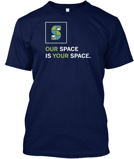 Som Your Space T Shirt Navy T-Shirt Front