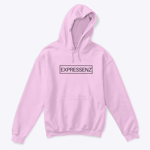 Expressenz Youth Hoodie Light Pink T-Shirt Front