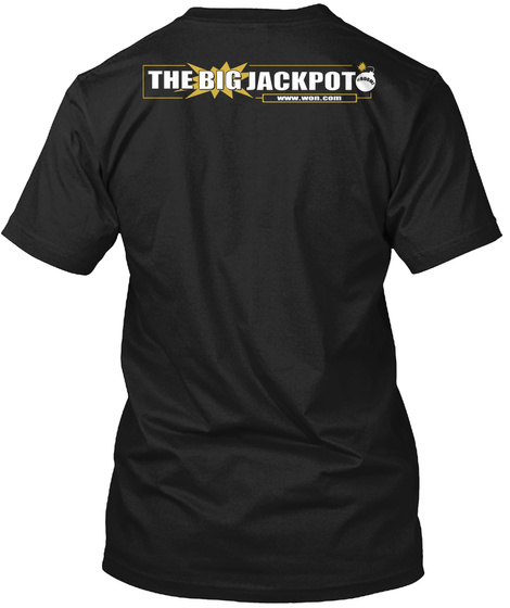 The Big Jackpot Black T-Shirt Back