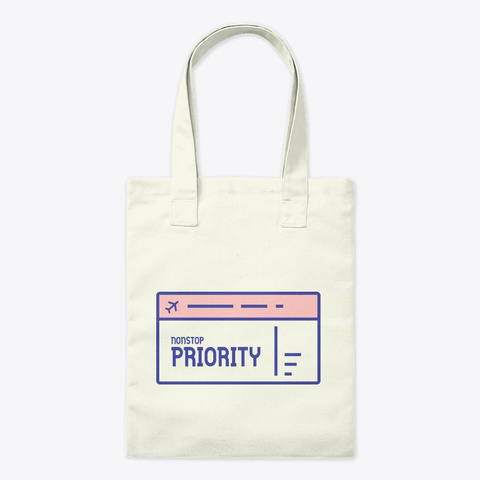 Nonstop Priority Natural T-Shirt Front