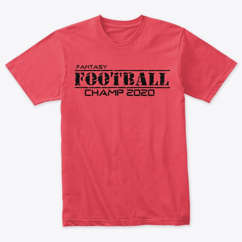 2020 Fantasy Football Champion Shirt Vintage Red T-Shirt Front