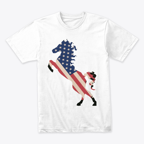 I Love My Usa White T-Shirt Front
