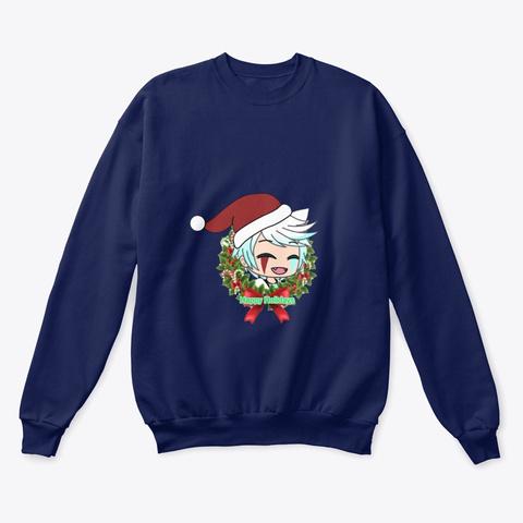 Happy Holidays Navy  T-Shirt Front
