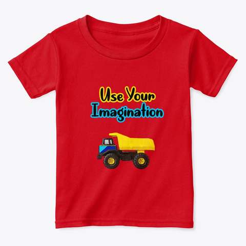 Use Your Imagination Red  T-Shirt Front