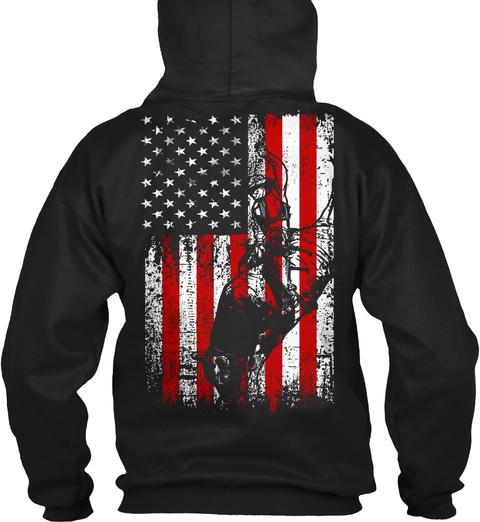 American Bull Rider Apparel Black Sweatshirt Back