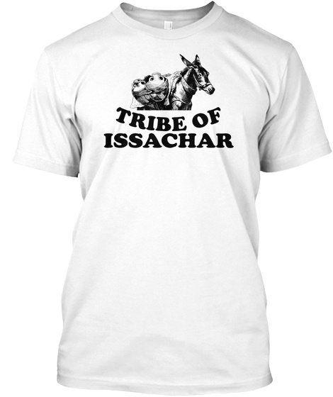Hebrew Israelite Clothing Tribe Of Issac White T-Shirt Front