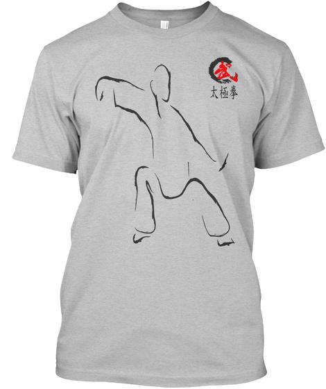 Tai Chi Us Light Heather Grey  T-Shirt Front