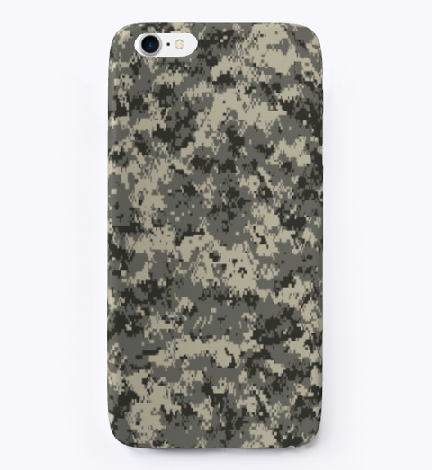 Camo Phone Cases | Winter White T-Shirt Front