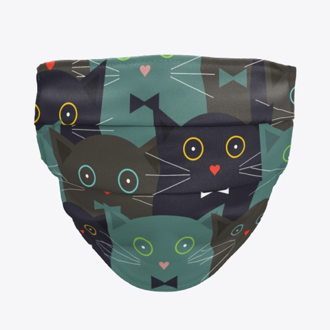 Bow Tie Cats Black T-Shirt Front