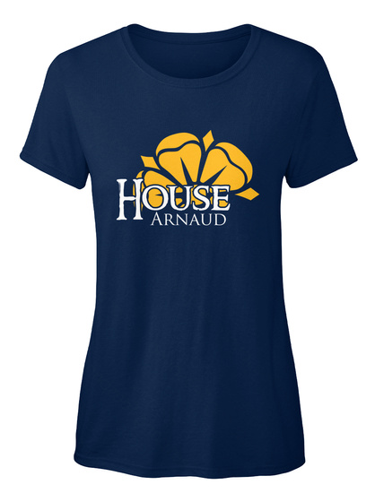 Arnaud Family House   Flower Navy T-Shirt Front