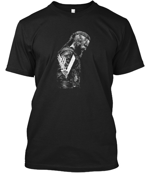 Ragnar Lothbrok Black T-Shirt Front