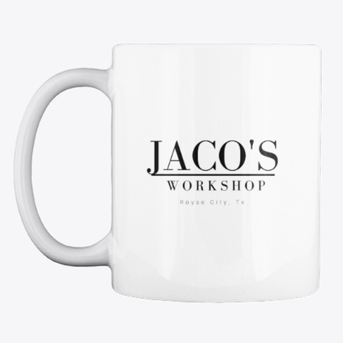 Jaco's Coffee Mug White T-Shirt Front