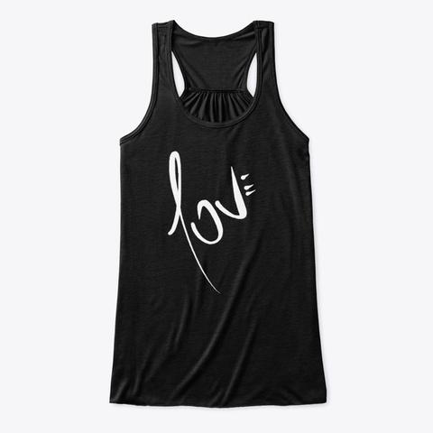 """Camiseta """"Love"""" De Guillermo Morante Black Camiseta Front"""