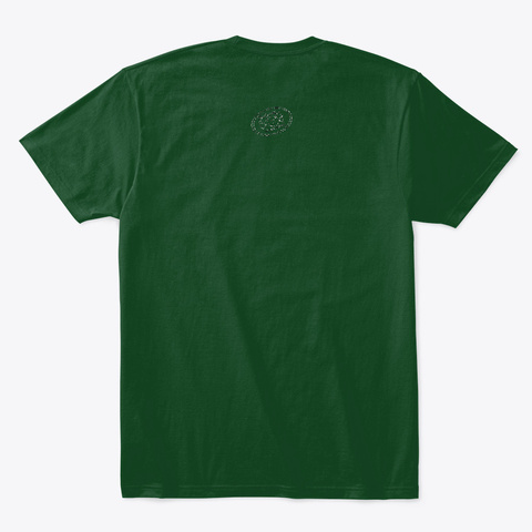 Hypno Wolf Forest Green  T-Shirt Back