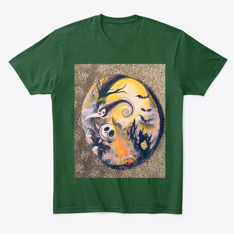 Jack And Zero Under The Golden Moon Forest Green  Kaos Front