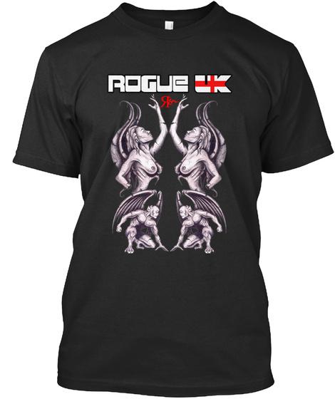 Rogue Uk Black T-Shirt Front